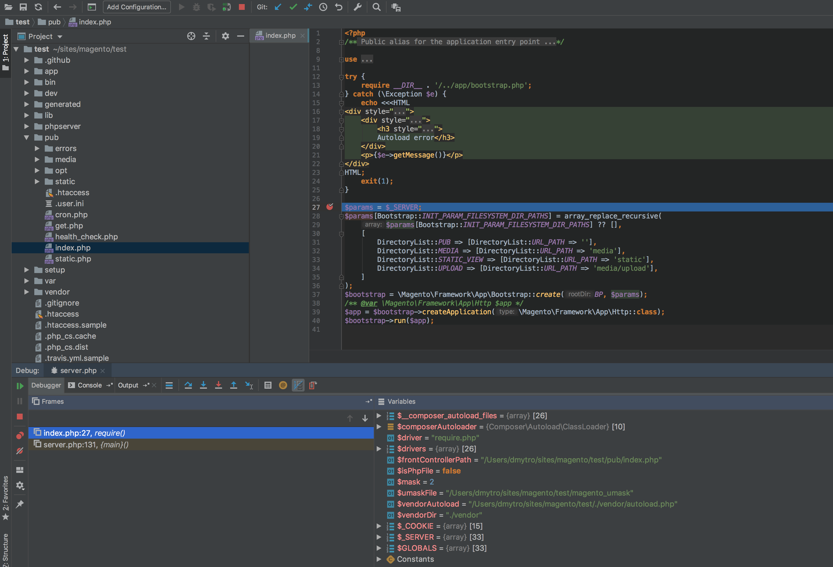 Xdebug stops on breakpoint in PhpStorm